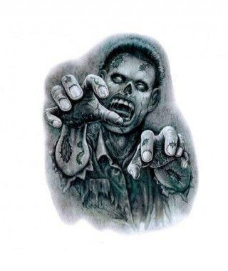 Pegatina Zombie B&W