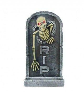 Lápida de Esqueleto con Luz