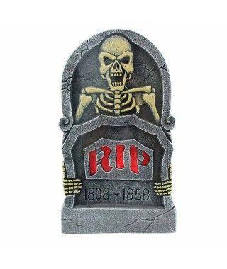 Lápida de Esqueleto Fecha con Luz