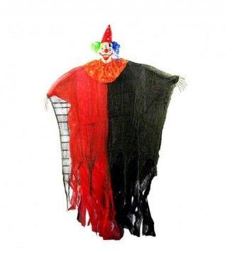 Colgante Payaso Rojo Negro 130 cm