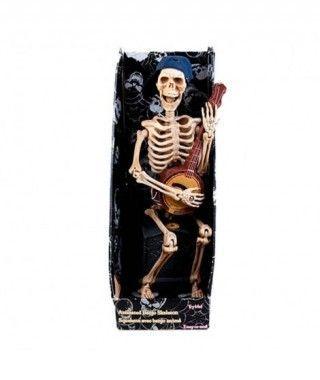 Muñeco Esqueleto Guitarra Luz Música y Movimiento