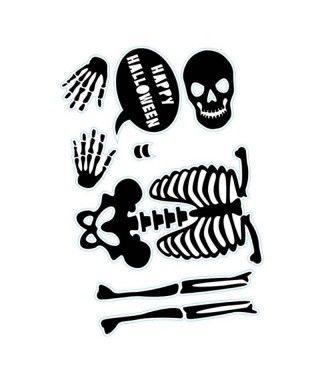 Pegatina Happy Halloween Esqueleto