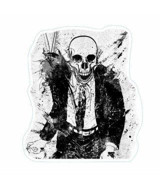Pegatina Halloween Esqueleto Trajeado
