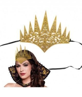 Corona Reina Malvada Oro Goma