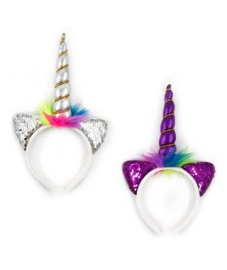 Diadema de unicornio con lentejuelas
