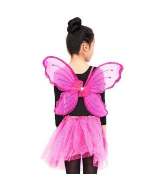 Conjunto Alas mariposa y Tutú Estrellas Niña Infantil