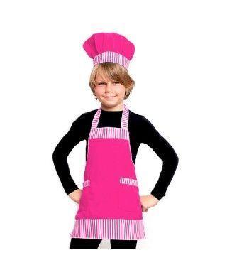 Conjunto Cocinero Chef infantil rosa Accesorio Carnaval