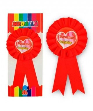 """Medalla Broche """"Bésame. Hoy es mi cumpleaños"""" Regalo"""