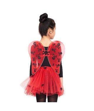 Conjunto de disfraz Diablesa Calaveras con tutú Infantil