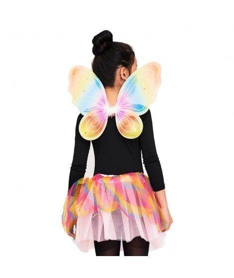 Conjunto Alas mariposa y Tutú Multicolor Niña Infantil
