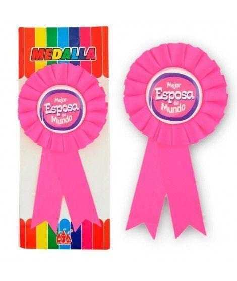 """Medalla Broche """"Mejor Esposa del Mundo"""" Regalo"""