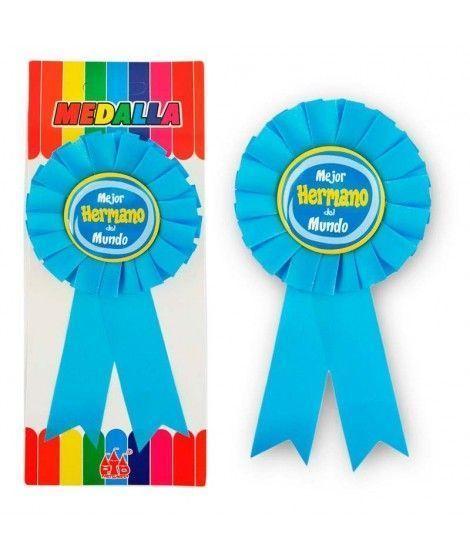 """Medalla Broche """"Mejor Hermano del Mundo"""" Regalo"""