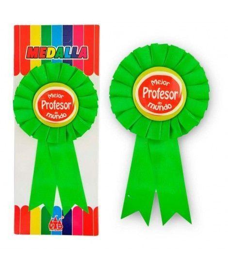 """Medalla Broche """"Mejor Profesor del Mundo"""" Regalo"""