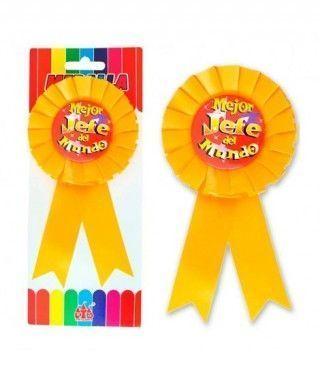 """Medalla Broche """"Mejor Jefe del Mundo"""" Regalo"""