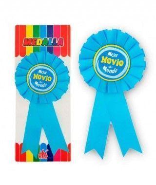 """Medalla Broche """"Mejor Novio del Mundo"""" Regalo"""