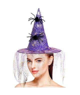 Sombrero de bruja morado