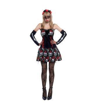 Disfraz Señorita Esqueleto Catrina Día de los Muertos mujer adulto para Halloween