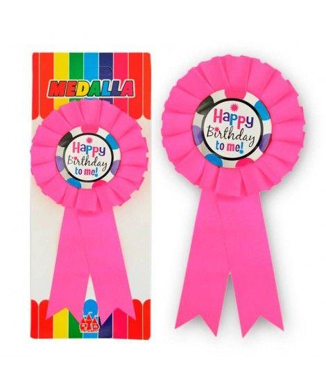 "Medalla Broche Rosa ""Happy Birthday to Me"" Regalo"