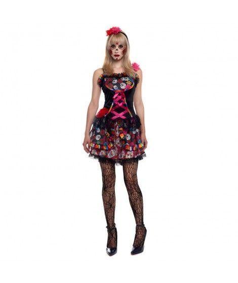 Disfraz Catrina Día de la Muerte Mejicana mujer adulto para Halloween