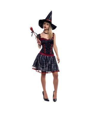 Disfraz Bruja Sassy Punky mujer adulto para Halloween