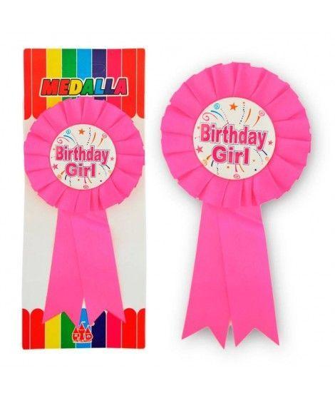 "Medalla Broche ""Birthday Girl"" Regalo"