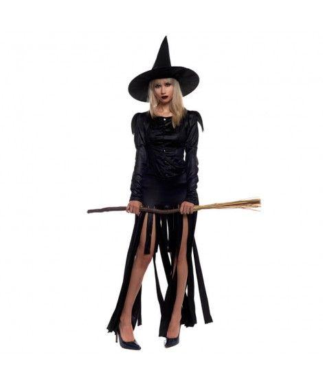 Disfraz Bruja Negra Mujer Adulto Halloween