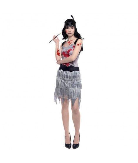 Disfraz Zombi Charleston mujer adulto para Halloween