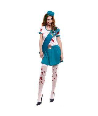 Disfraz de Girl Scout Zombi mujer adulto para Halloween