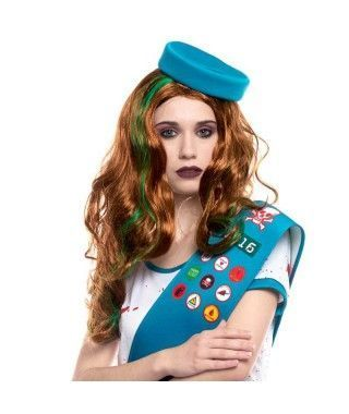 Peluca de Girlscout Zombi Accesorio Halloween