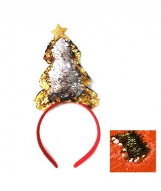 Diadema Árbol de Navidad Lentejuela Reversible