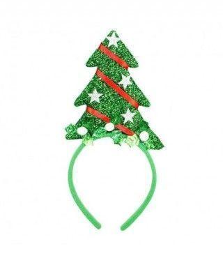 Diadema Árbol de Navidad Estrellas y Cinta