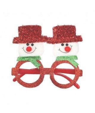 Gafas Navideñas Muñeco Nieve Fieltro