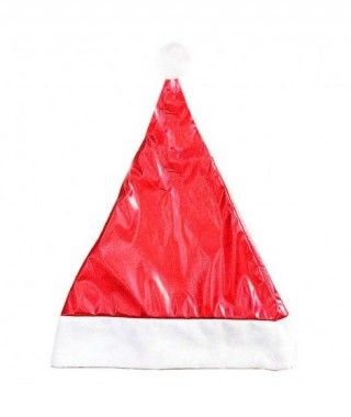 Gorro Papá Noel Rojo Metalizado