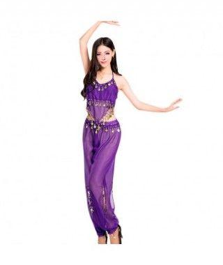 Conjunto Danza del Vientre Morado Top+Pantalón mujer adulto