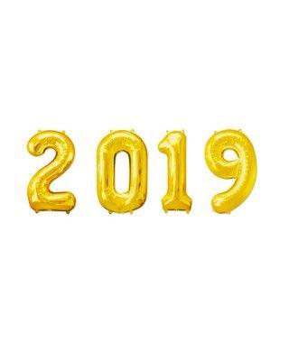 Globos de Números 2019 Doradas