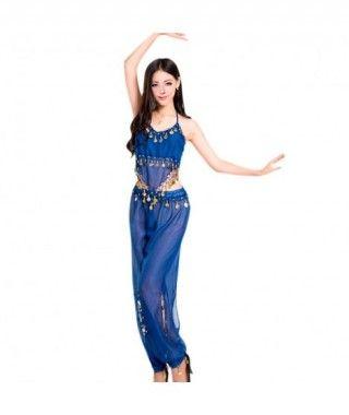 Conjunto Danza del Vientre Azul Marino Top+Pantalón mujer adulto