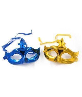 Antifaz veneciano metalizado accesorio Carnaval
