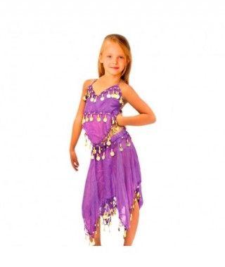 Conjunto Danza del Vientre Morado Top+Falda niña infantil