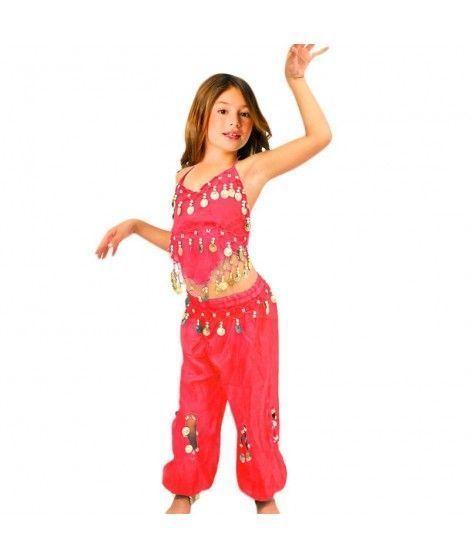 Conjunto Danza del Vientre Rojo Top+Pantalón niña infantil