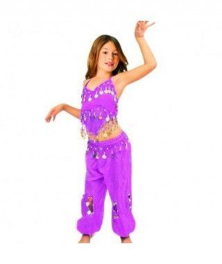 Conjunto Danza del Vientre Morado Top+Pantalón niña infantil