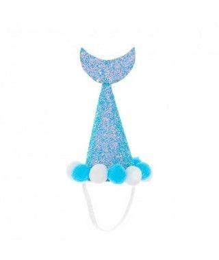 Gorro Cumpleaños Sirena Azul