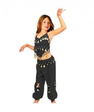 Conjunto Danza del Vientre Negro Top+Pantalón niña infantil
