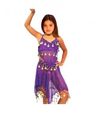 Conjunto Danza del Vientre Lentejuelas Top+Falda niña infantil