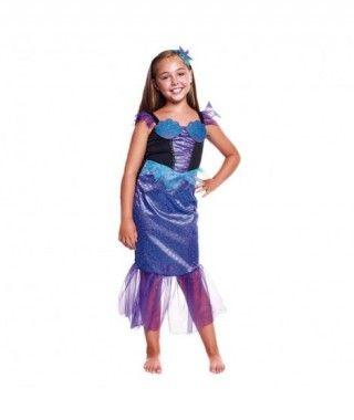 Disfraz Sirenita Lila Niña