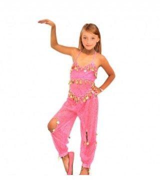 Conjunto Danza del Vientre Lentejuelas Top+Pantalón niña infantil