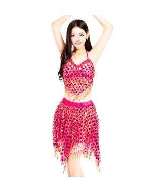 Conjunto Danza del Vientre Lentejuelas Top+Falda mujer adulto