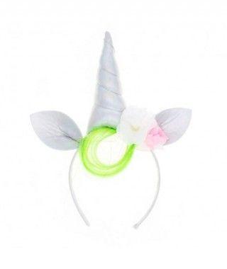 Diadema Unicornio Flequillo Verde