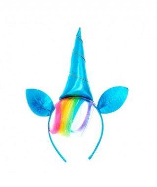Diadema Unicornio Flequillo Arco Iris