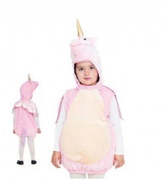 Disfraz Unicornio Rosa Bebé