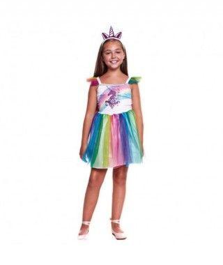 Disfraz Unicornio Tutú Arco Iris Niña